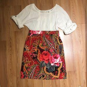 Edme & Esyllte Anthropologie Peasant Dress, Size 4